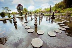 Tirtagangga vattenslott på den Bali ön Arkivbilder