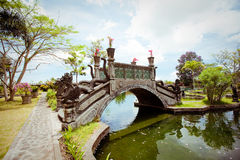 Tirtagangga water palace on Bali island Stock Photography