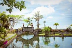Tirtagangga water palace on Bali island Royalty Free Stock Photos