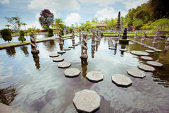 Tirtagangga wody pałac na Bali wyspie Obrazy Stock