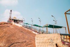 Rockfort Thayumanaswami temple in Tiruchirappalli, India. Tiruchirappalli, India - January 4, 2018 : Rockfort Thayumanaswami temple Royalty Free Stock Image