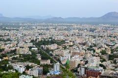 Tirupati市鸟瞰图  图库摄影