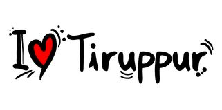 Tiruppur city love message Royalty Free Stock Photography