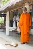 TIRUVANNAMALI,泰米尔纳德邦,印度- 3月大约, 2018年 在聚会所Ramana Maharshi的画象Sadhu Sadhu是一个圣洁者,有cho 免版税库存图片