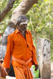 TIRUVANNAMALI,泰米尔纳德邦,印度- 3月大约, 2018年 街道摄影 在聚会所Ramana Maharshi的Sadhu Sadhu是一个圣洁者, w 库存图片