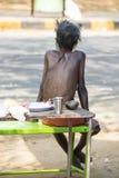 TIRUVANNAMALI, TAMIL NADU, INDIA - MARCH Circa, 2018 . Street photography. Sadhu at Ashram Ramana Maharshi. Sadhu is a holy man, w Stock Image