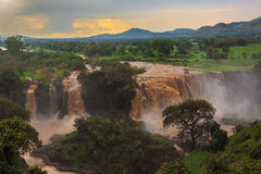 Tis Isat Falls on the Blue Nile. Royalty Free Stock Photo