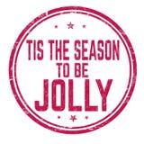 Tis la stagione da essere segno o bollo allegro illustrazione di stock