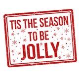 Tis la stagione da essere segno o bollo allegro royalty illustrazione gratis