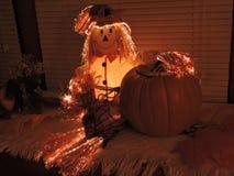 Tis o outono de espantalhos de incandescência Fotografia de Stock