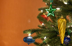 Tis the season for many things ornaments and tree Royalty Free Stock Photos