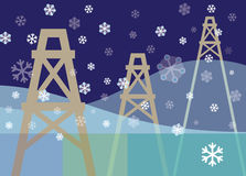 Tis The Season with oil pumps Stock Images
