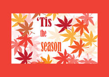 Tis the season. Seasonal background with autumn leaves Royalty Free Stock Photo