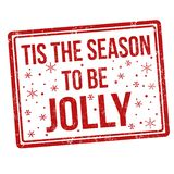 Tis the season to be jolly sign or stamp royalty free illustration