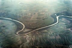 Tisa River na Sérvia é vista do plano imagem de stock