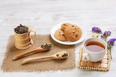 Tisana e cookies Fotografia de Stock