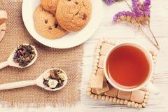 Tisana e cookies Fotografia de Stock Royalty Free