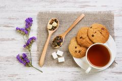 Tisana e cookies Fotos de Stock