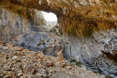 Tiscali. Archaeological site of Tiscali nuragic village in Dorgali, Sardinia, Italy Stock Photography