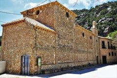 Tiscar的维尔京的圣所在奎萨达,安大路西亚,西班牙 库存照片