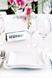 Tisch reserviert Lizenzfreie Stockbilder