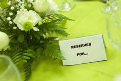 Tisch reserviert für? Lizenzfreie Stockbilder