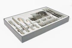 Tischbesteck im Kasten Stockfotografie