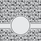 Tischbesteck-Menü-Hintergrund Lizenzfreies Stockbild