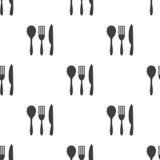 Tischbesteck, nahtloses Muster des Vektors Lizenzfreies Stockfoto