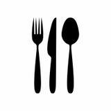 Tischbesteckikonen-Vektordesign stockfotos