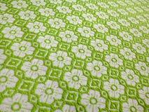Tischdecke des Blumenmusters Stockfotos