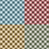 Tischdecke-Gingham-nahtloses Muster Stockfotografie