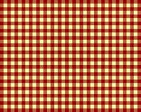 Tischdecken-Hintergrund rot und gelb Lizenzfreie Stockfotografie