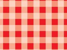 Tischdeckenrotmuster Rote und weiße Beschaffenheit für: Winkel des Leistungshebels vektor abbildung