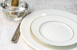 Tischfertig für das Speisen stockbild