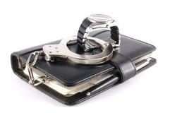 Tischkalender und gefesselte Uhr Lizenzfreies Stockfoto