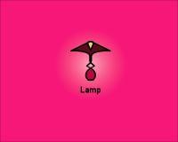 Tischlampe-Logo Lizenzfreies Stockbild