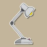 Tischlampe mit Knopf auf Papier. Vektor Stockfoto