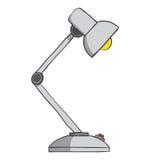 Tischlampe mit Knopf auf weißem Hintergrund. Vektor Lizenzfreie Stockfotografie