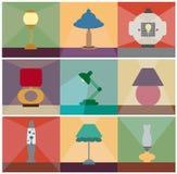 Tischlampen vector Satz Stockbilder