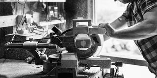 Tischler-Handwerker-Lumber Timber Woodwork-Konzept lizenzfreies stockbild