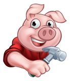 Tischler Pig Cartoon Character Stockbild