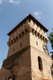 Tischler ragen in die alte Stadtmitte von Sibiu hoch Stockbild
