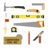 Tischler ` s Tool-Kit Stockfotos