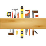 Tischler Tool Flat Banner Lizenzfreie Stockfotos