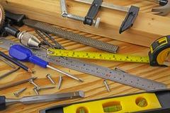 Tischler Tools lizenzfreies stockbild