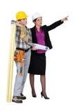 Tischler und ihr Manager stockfotografie