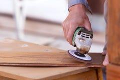 Tischlerbohrgerätholz für Hausbau Lizenzfreie Stockbilder