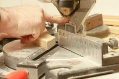 Tischlerfunktion, -hammer, -meter und -schraubenzieher Lizenzfreie Stockfotografie