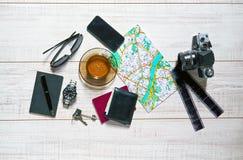 Tischplatte eines Reisenden Lizenzfreie Stockfotografie